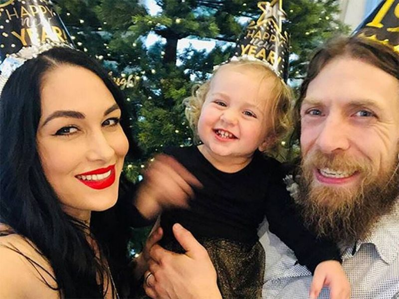 Brie Bella with her family