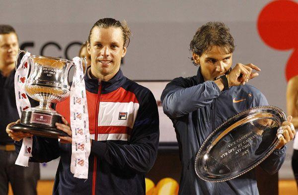 Horacio Zeballos (left) won his lone career title at 2013 Vina del Mar.