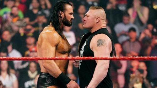 What message does Lesnar have for McIntyre tonight?