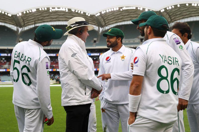 Pakistani Test side while on their tour to Australia