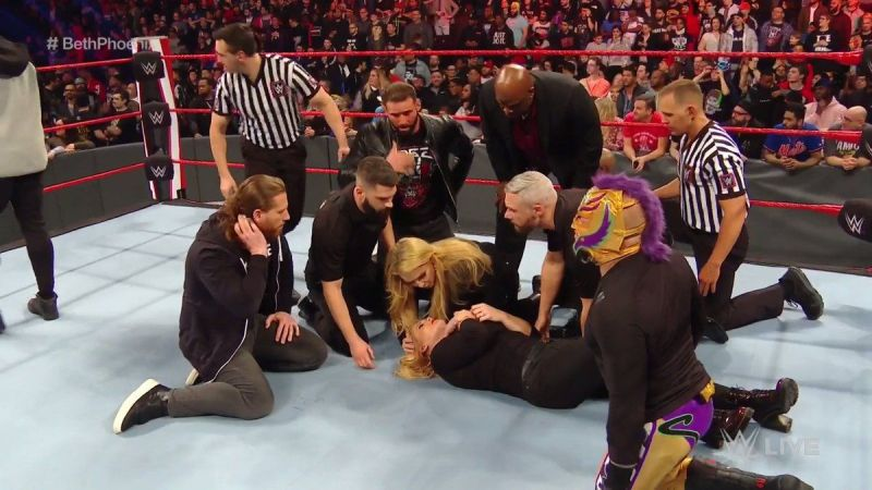 Officials tend to Beth Phoenix