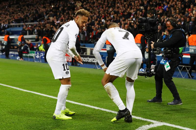 Neymar and Mbappe enjoying themselves