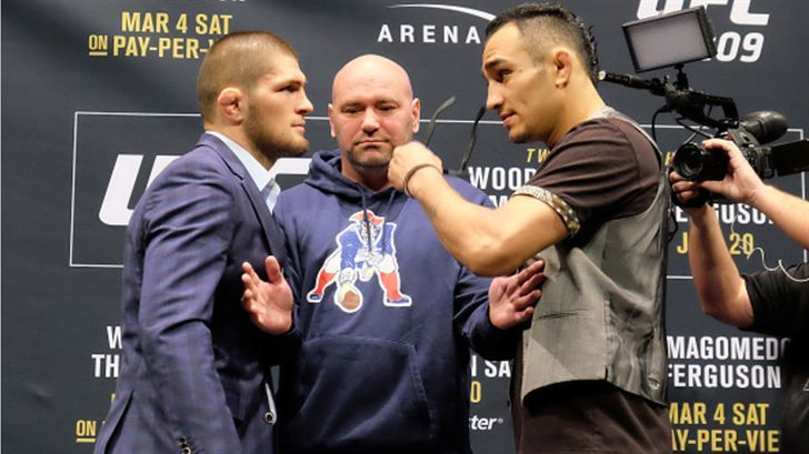 The fight was canceled at UFC 209 due to a botched weight cut from Khabib