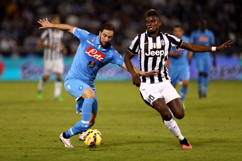 Pogba in action for Juventus against SSC Napoli