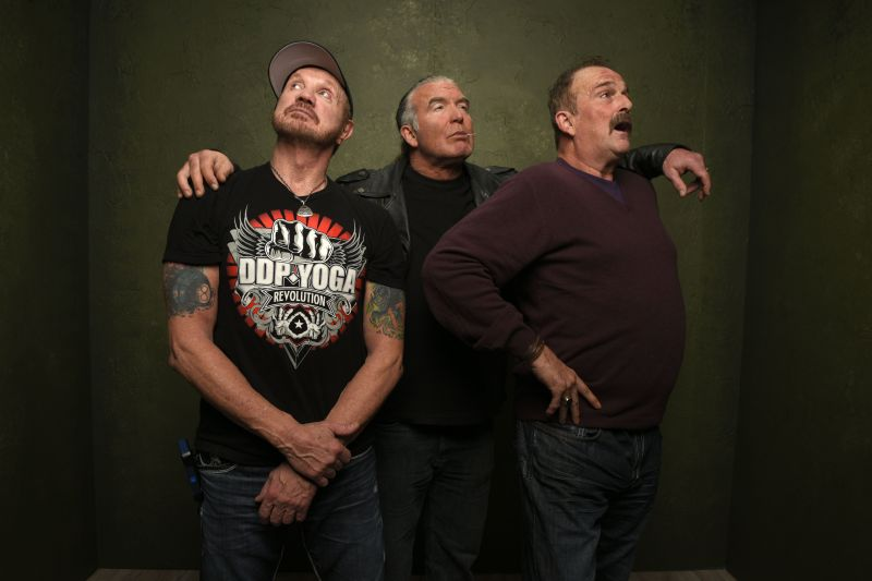 "Jake ""The Snake"" Roberts with Diamond Dallas Page and Scott Hall at the 2015 Sundance Film Festival"