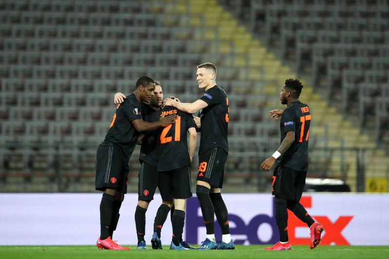 Manchester United established a thumping victory over LASK on Thursday