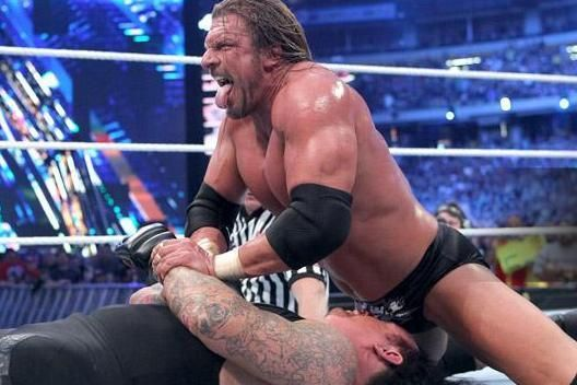 The Undertaker was pummelled by his opponent in the match.