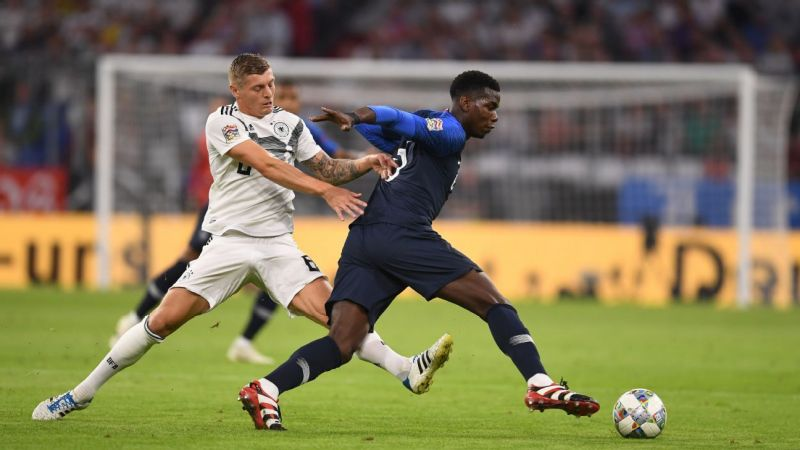 France and Germany were also placed in the same group for the UEFA Nations League