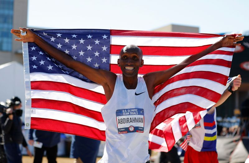 Abdi Abdirahman qualifies for his fifth Olympic appearance at the age of 43.