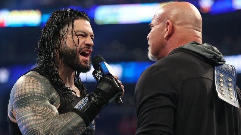 Roman Reigns and Goldberg