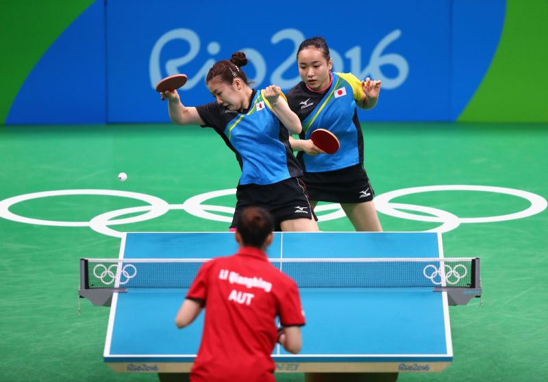 Table Tennis action during Olympics.