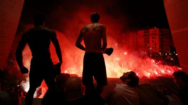 Paris Saint-Germain players celebrate - cropped