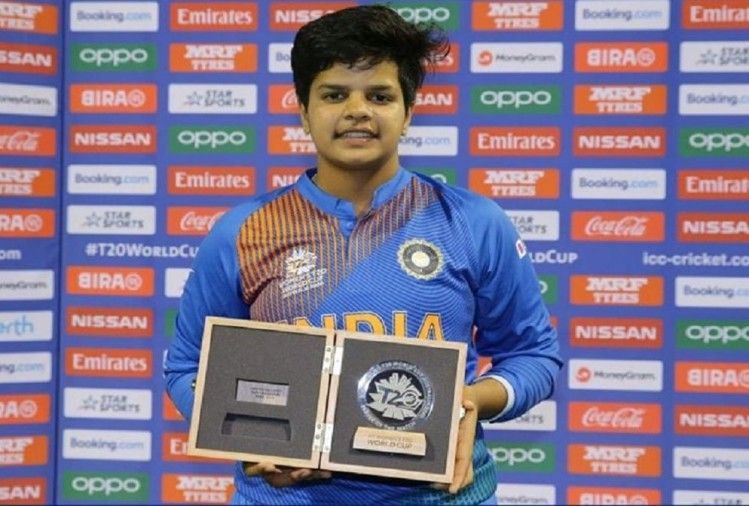 Shafali is the youngest player to be awarded the Player of the Match Award in T20s