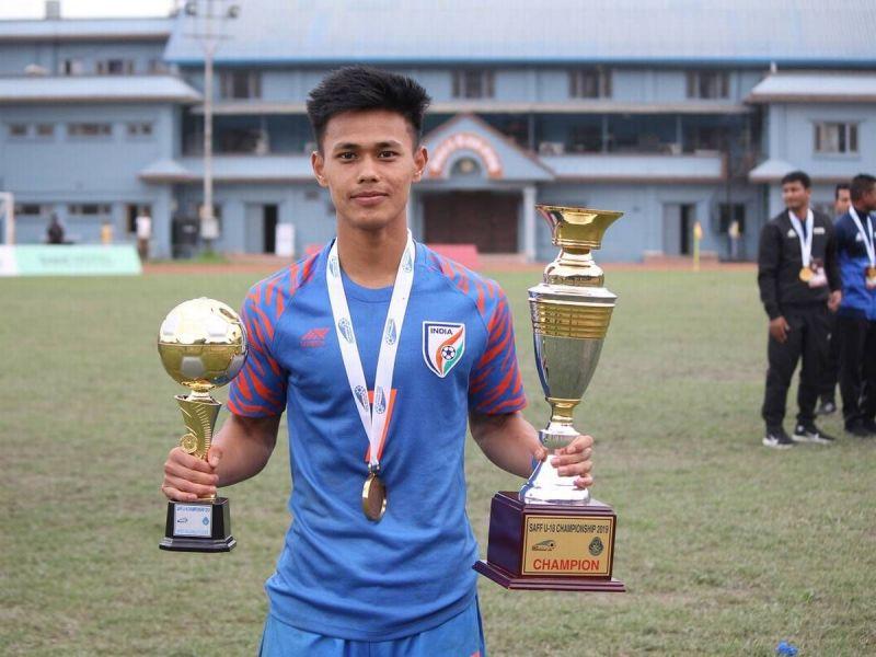 Ninthoinganba Meetei bagged the MVP of SAFF U18 Championship tournament this year