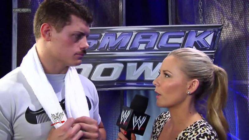 Renee Young often interviewed Cody Rhodes in WWE