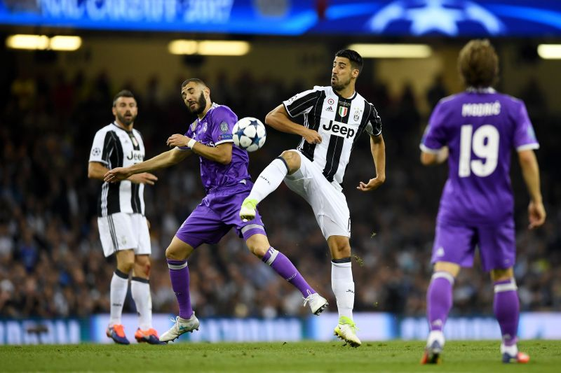 Sami Khedira in action against his former club in Champions League finals