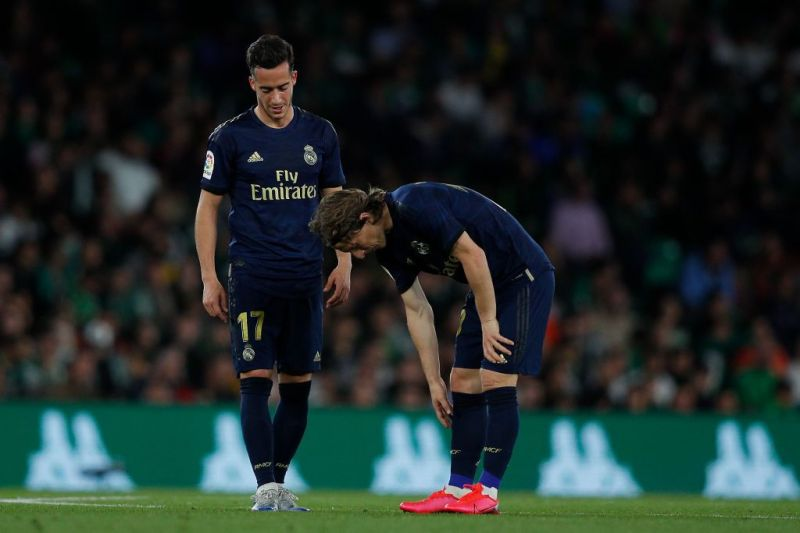 A dejected Luka Modric after Real Betis scored the winner late in the game.