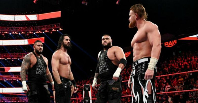 Seth Rollins, AOP and Murphy.
