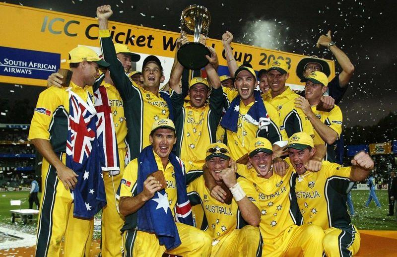 Australia celebrate their victory