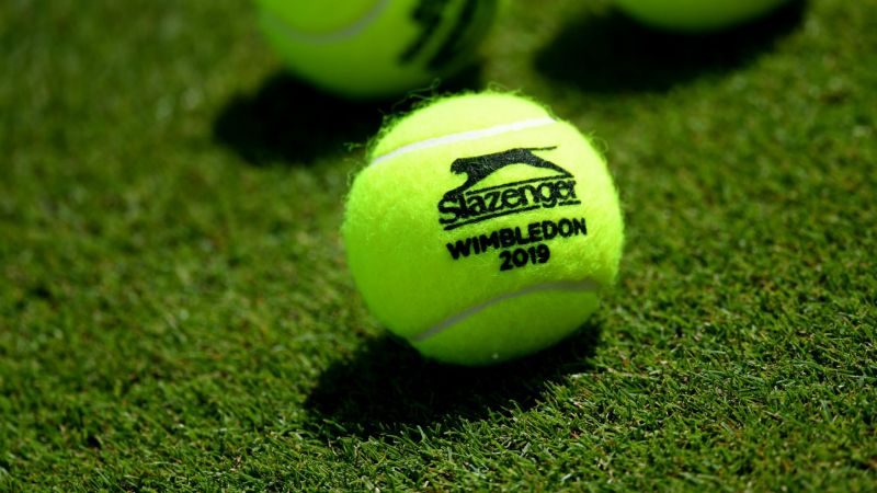 Wimbledon tennis ball - cropped