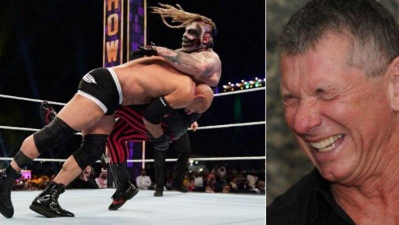 Goldberg and Bray Wyatt/ Vince McMahon