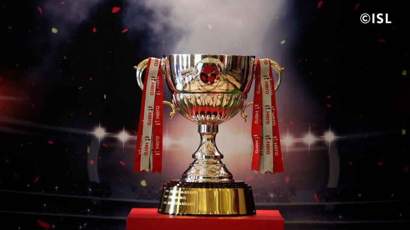 The Indian Super League trophy for 2019-20 season (Photo credit: Indian Super League)