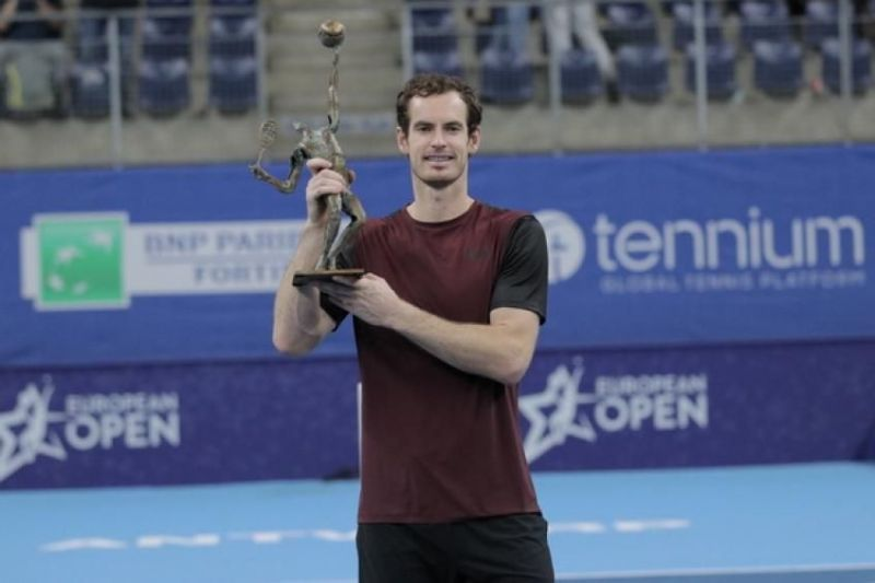 Andy Murray lifts his 46th career singles title at the 2019 European Open in Antwerp