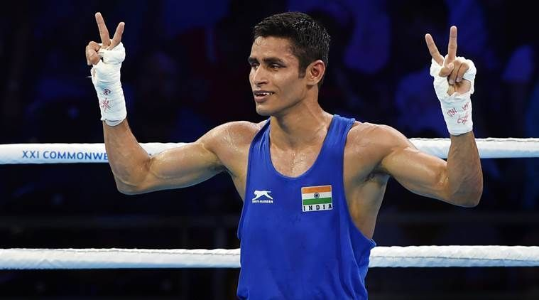 Gaurav Solanki makes it to the pre-quarters in the 57 kg category