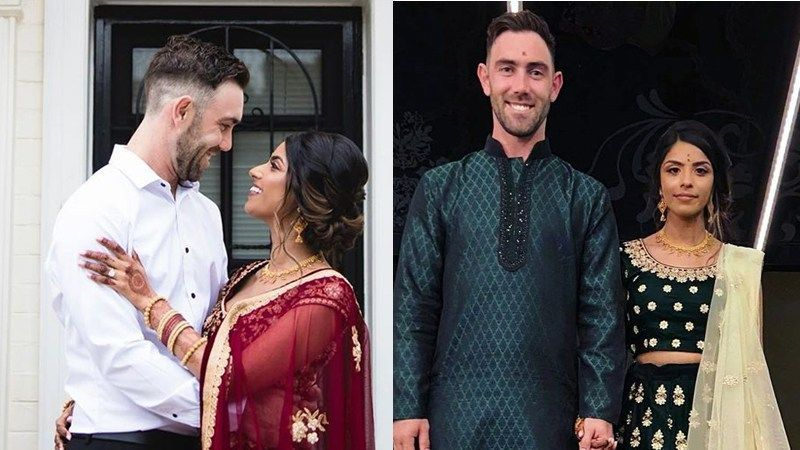 Glenn Maxwell celebrated his engagement with fiance, Vini Raman, in Melbourne on Saturday