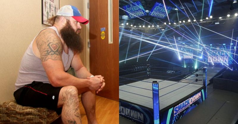 Braun Strowman/ SmackDown set at the WWE PC.