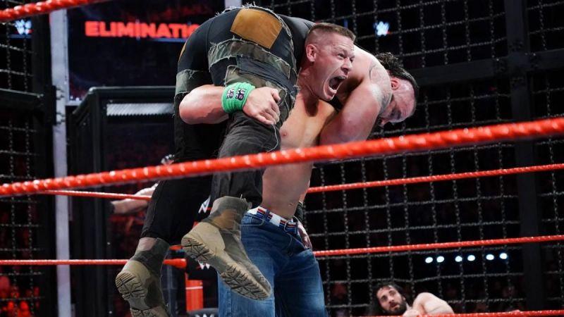 John Cena and Braun Strowman were part of the 7-man Elimination Chamber.