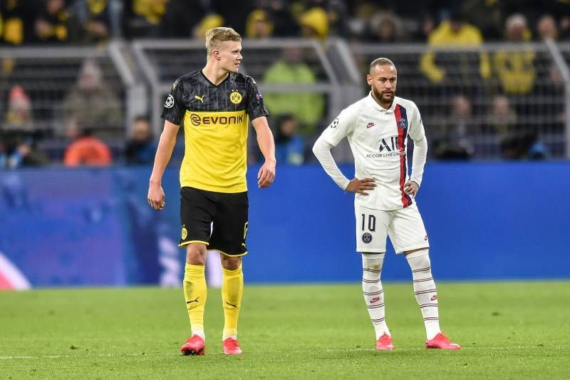 Erling Haaland and Neymar will be two key men to watch out for in the Round of 16 second leg clash