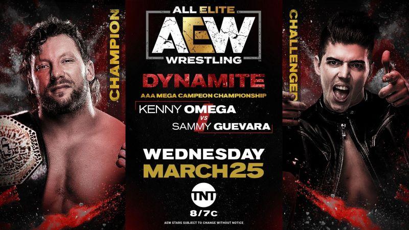 Kenny Omega (AAA Mega Champion) vs Sammy Guevara on AEW Dynamite