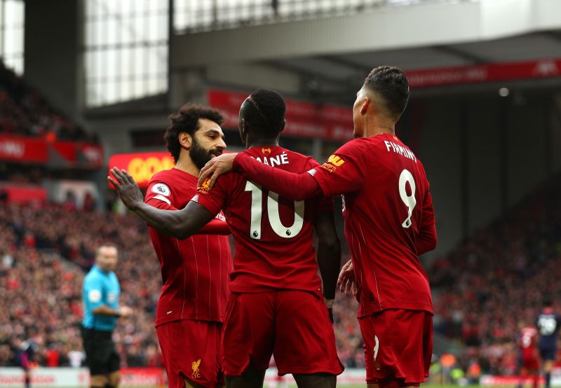 Mohamed Salah, Roberto Firmino and Sadio Mane are Liverpool