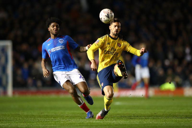 Pablo Mari (R) impressed on his Arsenal debut
