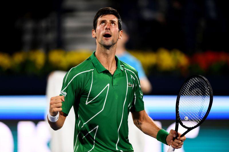 Novak Djokovic dropped only one set in Dubai