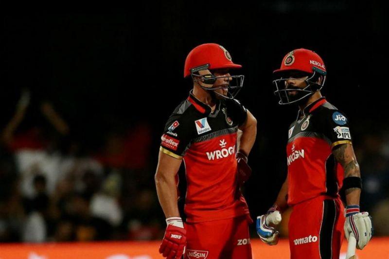 Virat Kohli and AB de Villiers racked up a 215 runs partnership against the Mumbai Indians in 2015