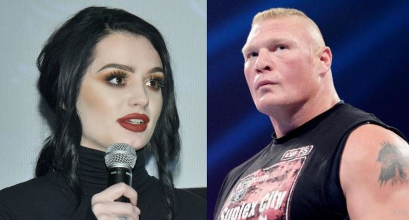 Paige and Brock Lesnar