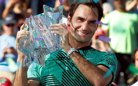 Federer lifted his 5th Indian Wells title in 2017
