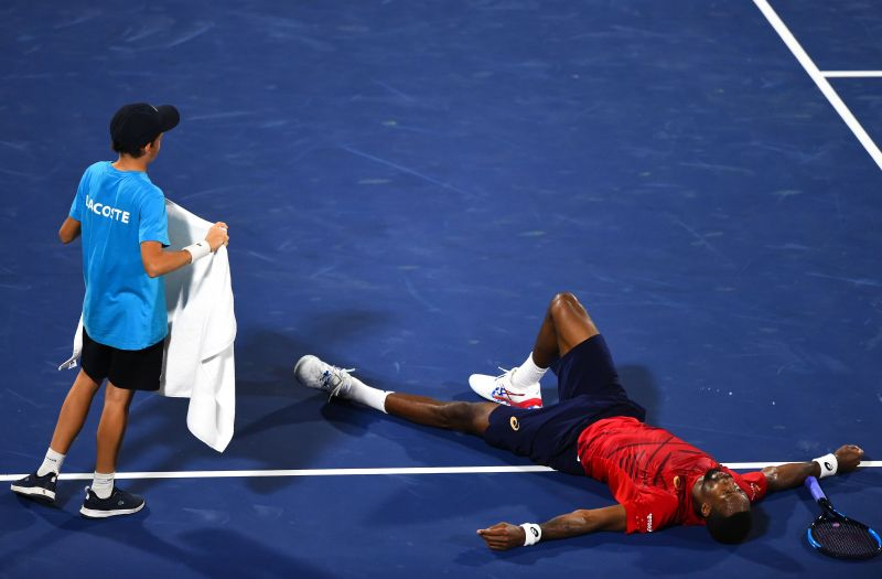Gael Monfils huffed and puffed but he could not down Djokovic