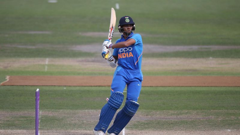 Yashasvi Jaiswal playing a pull shot in the U-19 World Cup