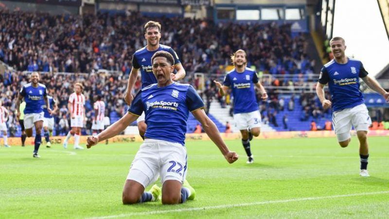 Jude Bellingham celebrates for Birmingham