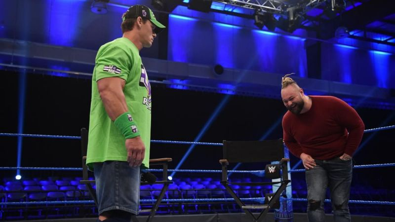 John Cena and Bray Wyatt came face to face tonight