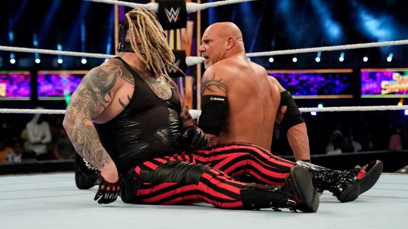 "Goldberg defeated ""The Fiend"" in the Super ShowDown main event"