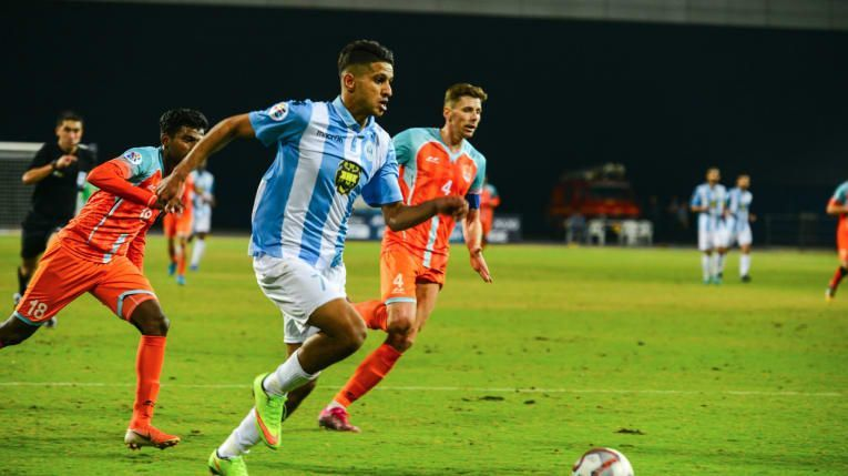 Chennai City FC in action in the AFC Champions League Preliminary stages
