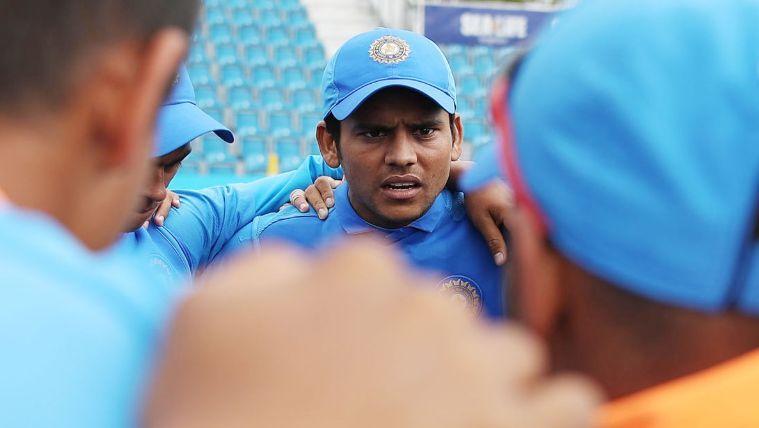 Garg talks to fellow India U-19 Cricketers
