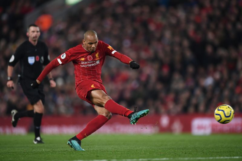 Fabinho scored one of the goals of the season against defending champions Manchester City