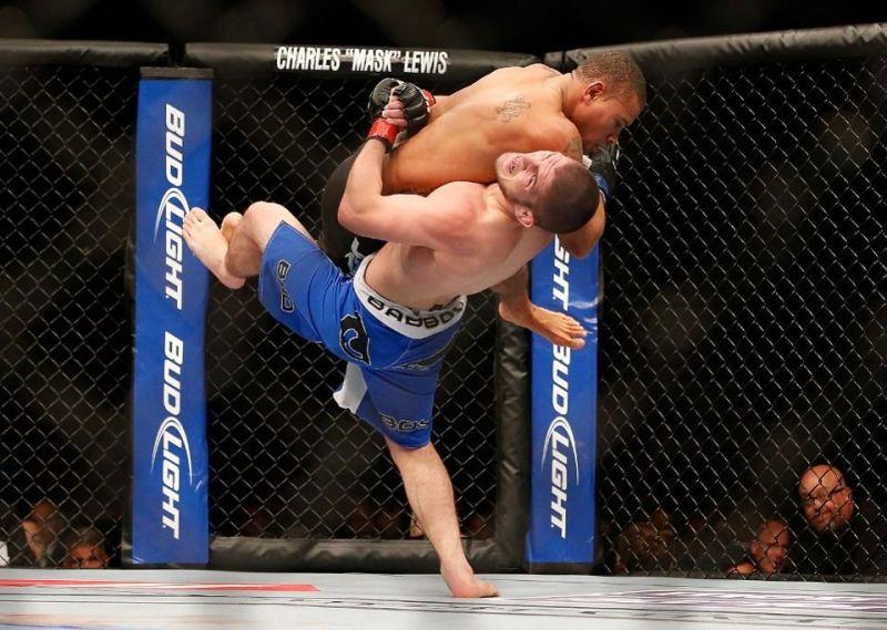 Khabib took Abel Trujillo down 21 times, breaking a UFC record in the process