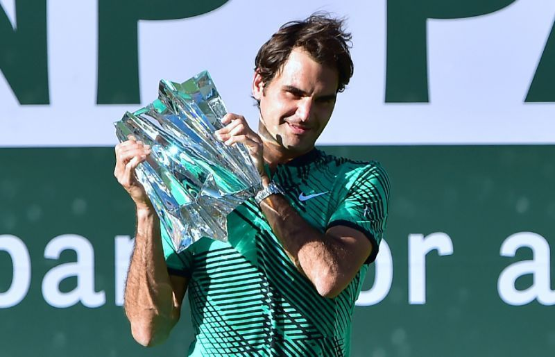 Roger Federer lifts his 5th Indian Wells title in 2017