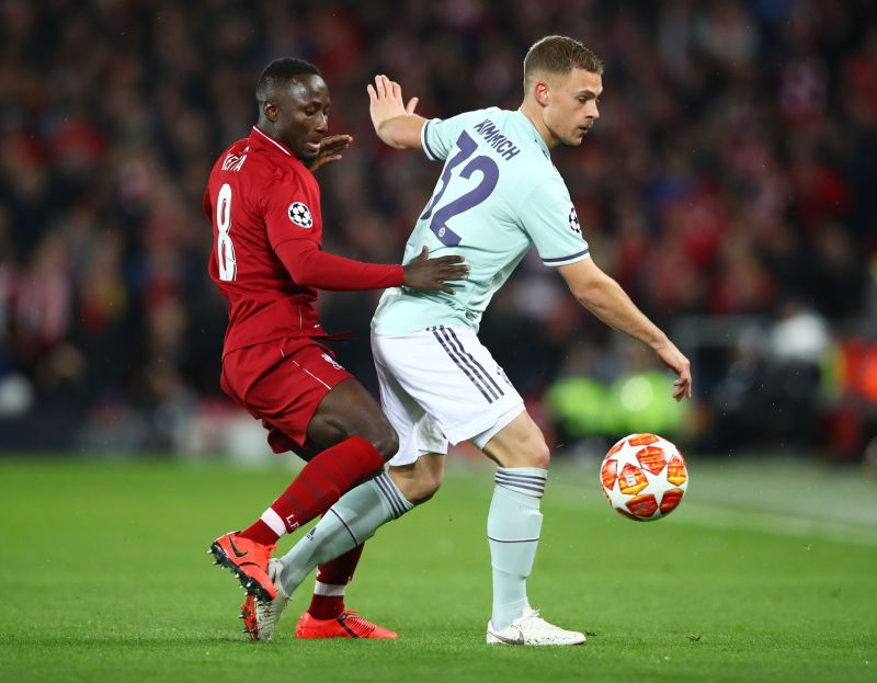 Kimmich in last-16 Champions League action against eventual winners Liverpool last season